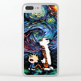 calvin hobbes Clear iPhone Case