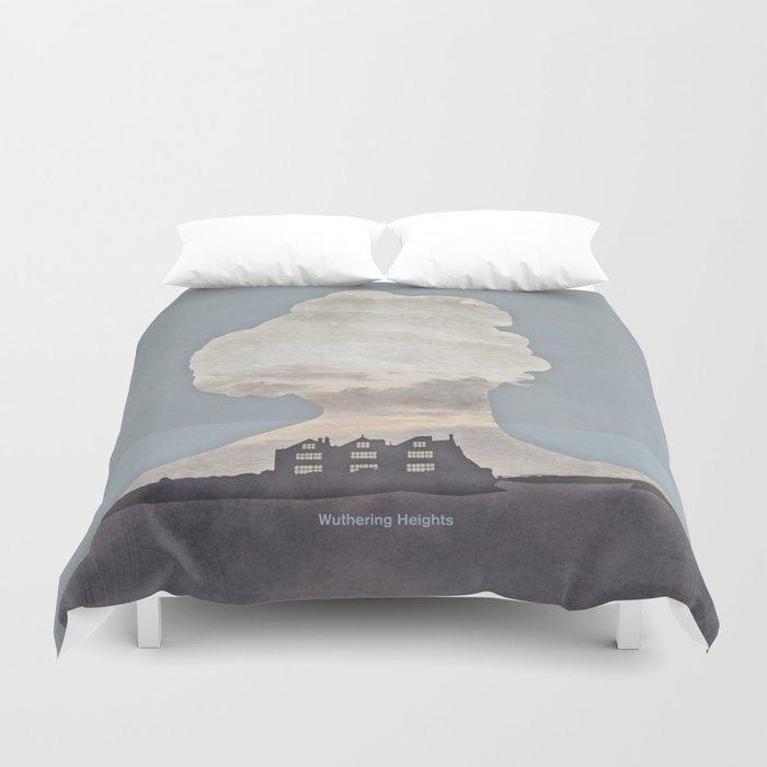 Emily Brontë Wuthering Heights - Minimalist literary design Duvet Cover