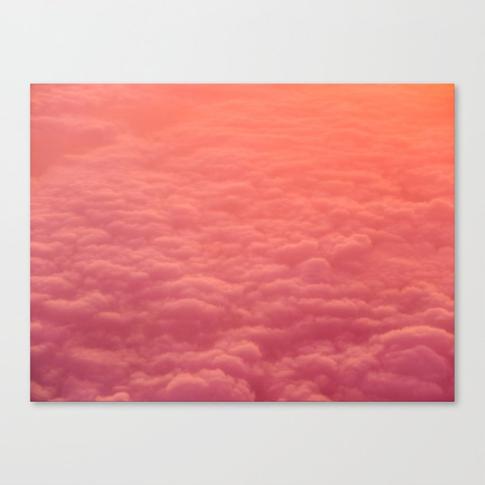 Magical Pink Orange Ombre Grant Colorful Clouds Pastel Cotton Candy Texture Canvas Print By Enshape Society6
