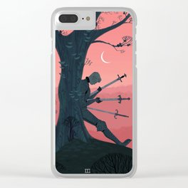 3 of Swords Clear iPhone Case