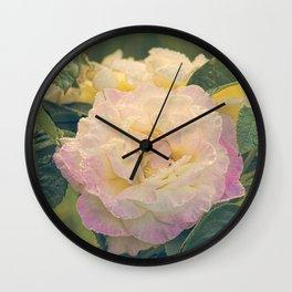 Summer's Rose Wall Clock