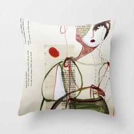 Sepia Girl Throw Pillow