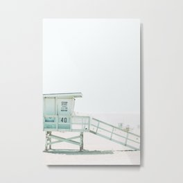 Lifeguard Tower California Beach Life Metal Print
