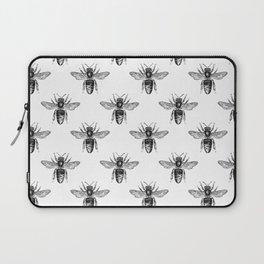 Bee Neck Gator Black and White Bees Beekeper Laptop Sleeve