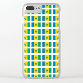 flag of Saint Vincent and the Grenadines-Saint Vincent,Grenadines,Vincentian, Vincy,Kingstown Clear iPhone Case