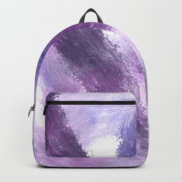 Purple Watercolor Abstract Art Backpack