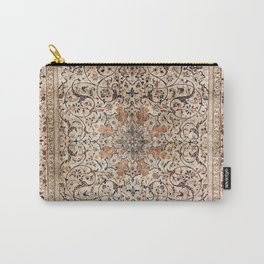 Silk Esfahan Persian Carpet Print Carry-All Pouch