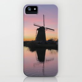 Sunset at Kinderdijk in Holland iPhone Case