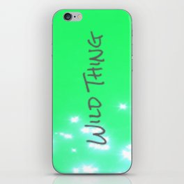 Lime Wild Thing iPhone Skin
