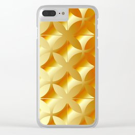 Texture with gold flowers Clear iPhone Case