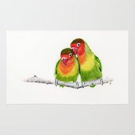 Love Birds - birds, nature, wildlife Rug