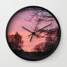 Sunset in Drawsko 1 Wall Clock