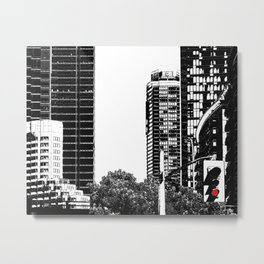 Red Traffic Light Metal Print
