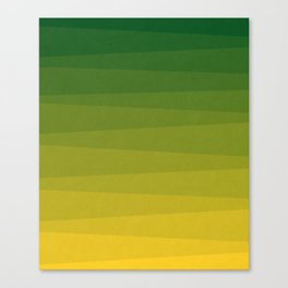 Shades of Grass - Line Gradient Pattern between Lime Green and Bright Yellow Canvas Print