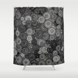 Heavy iron / 3D render of hundreds of heavy weight plates Shower Curtain
