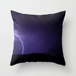 Lightning Strikes - II Throw Pillow