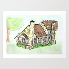 Melhorn's Port Herman Beach Condo, Vacation House Art Print