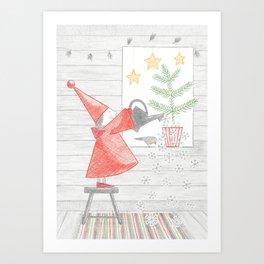 Growing a Christmas tree Art Print