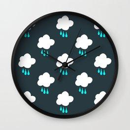 Rain Cloud Pattern Wall Clock