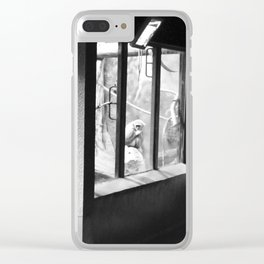 Watching the Watchers Clear iPhone Case
