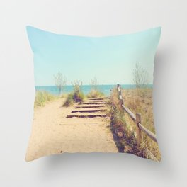 AFE Gibraltar Point Beach Throw Pillow
