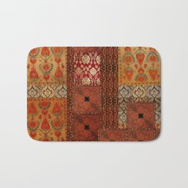 Vintage textile patches Bath Mat