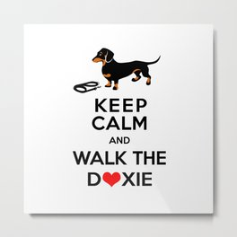 Walk the Doxie Metal Print