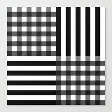 monochrome pattern  Canvas Print