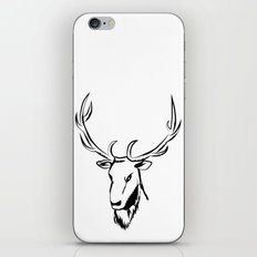Ciervo negro iPhone & iPod Skin