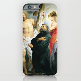 Saint Augustine between Christ and the Virgin by Peter Paul Rubens iPhone Case