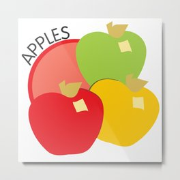 Apples Illustration Metal Print