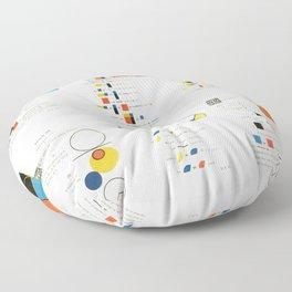 Euclidean joy Floor Pillow