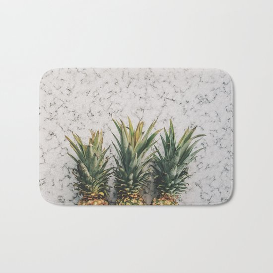 Pineapple marble Bath Mat