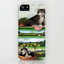 """Mosky Cat """"Spring calling"""" iPhone Case"""