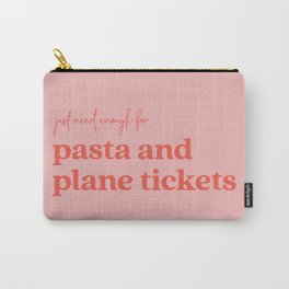 Pasta and Plane Tickets - Red and Pink Carry-All Pouch