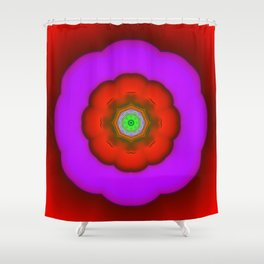 Fractal FlowerPower Shower Curtain