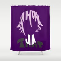 soul eater Shower Curtains featuring crona soul eater  by Rebecca McGoran