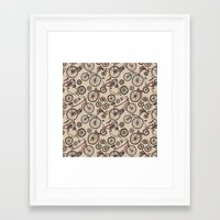 bicycles Framed Art Prints featuring Bicycles by Mario Zucca