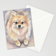 Pomeranian Watercolor Pom Puppy Dog Painting Stationery Cards