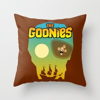 goonies Throw Pillows featuring The Goonies by tuditees