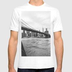 Brooklyn Bridge III Mens Fitted Tee White MEDIUM