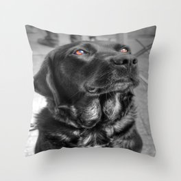 Some Angels Have Fur Throw Pillow