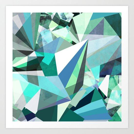 Colorflash 8 mint Art Print