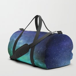 Turquoise Space Duffle Bag