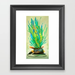 Feathered Tethridon Framed Art Print