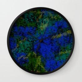 Peacock crystal mosaic Wall Clock