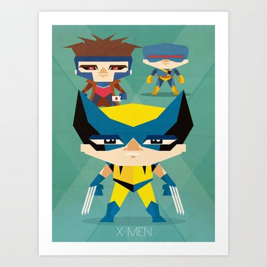 X Men fan art Art Print