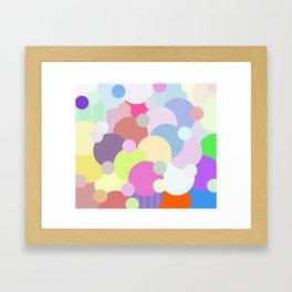 Des ballons qui couvrent le ciel Framed Art Print