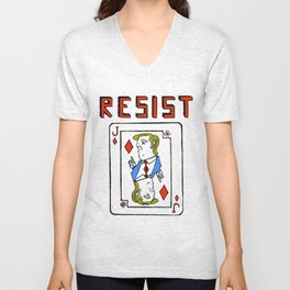 Resist: Trump Card Unisex V-Neck