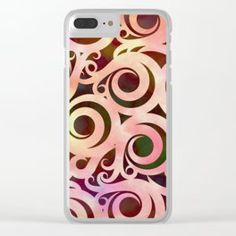 Softly Colored Swirls Clear iPhone Case